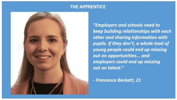 a photo of an apprentice