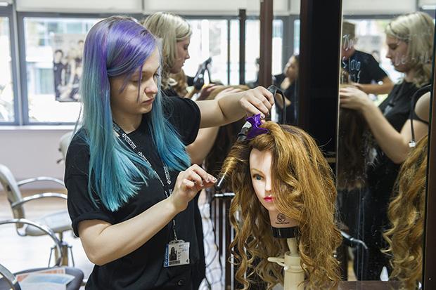 Hairdressing apprentice